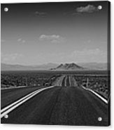 Traveling Down The Road Into The Mountains Acrylic Print