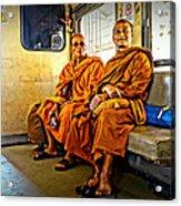 Traveling Monks Acrylic Print