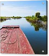 Traveling Through Tonle Sap Lake Acrylic Print