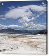 Travertine Hill Of Mammoth Hot Springs  Acrylic Print