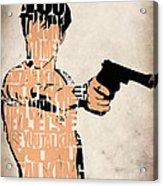 Travis Bickle - Robert De Niro Acrylic Print by Ayse Deniz