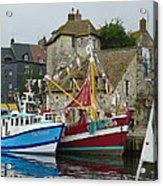 Trawlers In Honfleur Acrylic Print