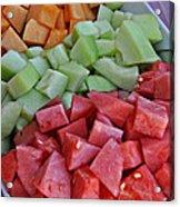 Tray Of Melon Chunks Art Prints Acrylic Print