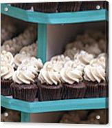 Trays Of Cupcakes Closeup Acrylic Print