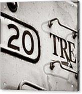 Tre 120 Acrylic Print by Joan Carroll