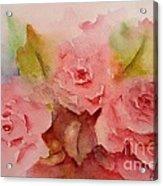 Tre Rose Acrylic Print