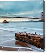 Treasure And The Golden Gate Bridge Acrylic Print by Sarit Sotangkur