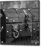 Treasure Chest In Black And White Acrylic Print