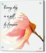 Treasure Each Day Tulip Tree Flower Acrylic Print