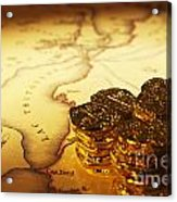Treasure Map And Doubloons Acrylic Print