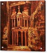Treasury Of Petra Acrylic Print by Tom Shropshire