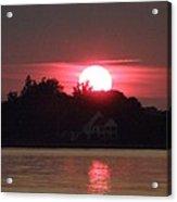 Tred Avon Sunset Acrylic Print by Lainie Wrightson