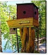 Tree House Boat Acrylic Print