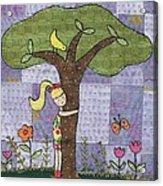 Tree Hugging Acrylic Print by Julie Bull