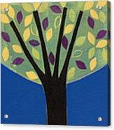 Tree In Blue Acrylic Print