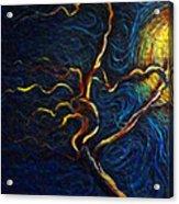 Tree In The Moonlight Acrylic Print