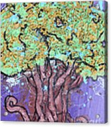 Tree In Three Dee Acrylic Print by Genevieve Esson