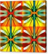 Tree Light Square Pattern Acrylic Print