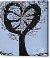 Tree Of Hearts Acrylic Print by Marcia Weller-Wenbert