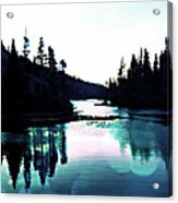 Tree Of Life Digital Paint Effect Acrylic Print