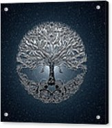 Tree Of Life Nova Blue Acrylic Print