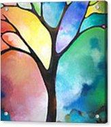 Original Art Abstract Art Acrylic Painting Tree Of Light By Sally Trace Fine Art Acrylic Print