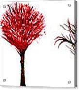 Tree Paintings In Wax Acrylic Print