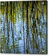 Tree Reflections On A Pond In West Michigan Acrylic Print