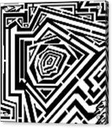Tree Rings Abstraction Maze  Acrylic Print