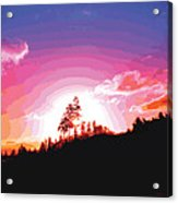 Tree Top Sunrise Acrylic Print