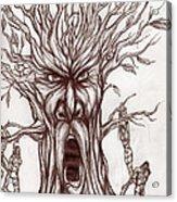 Treeman Acrylic Print by Michael Mestas