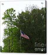 Trees And Flag Acrylic Print