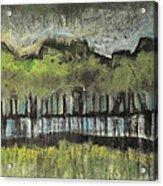 Trees By A Stream Acrylic Print