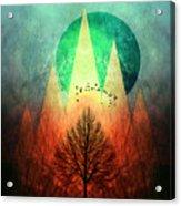 Trees Under Magic Mountains I I Acrylic Print