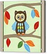 Treetop Friends - Owl Acrylic Print