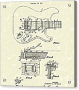 Tremolo Device 1956 Patent Art Acrylic Print