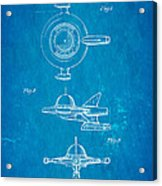Tremulis Spaceship Hood Ornament Patent Art 1951 Blueprint Acrylic Print