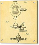 Tremulis Spaceship Hood Ornament Patent Art 1951 Acrylic Print by Ian Monk
