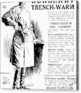 Trench Coat, 1917 Acrylic Print