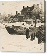 Trenton Winter Acrylic Print by Stephen Parrish