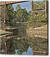 Trestle Over Reflecting Water Acrylic Print