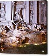 Trevi Fountain Evening Acrylic Print