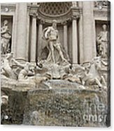 Trevi Fountain In Rome Acrylic Print