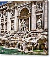 Trevi Fountain In Rome Italy Acrylic Print