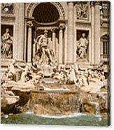Trevi Fountain Acrylic Print