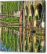 Treviso Canal And Reflections Acrylic Print