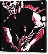 Trey Anastasio In Pink Acrylic Print