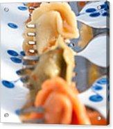 Tri Color Tortellini In Row Acrylic Print