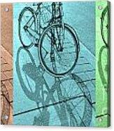 Tri-coloured Bicycle Print Acrylic Print