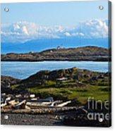 Trial Island And The Strait Of Juan De Fuca Acrylic Print